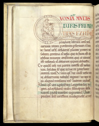 Ezekiel or Gregory Writing, in Gregory the Great's 'Homilies on Ezekiel'